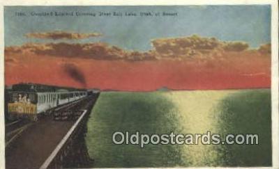trn001469 - Overland Limited, Salt Lake, Utah, UT USA Trains, Railroads Postcard Post Card Old Vintage Antique