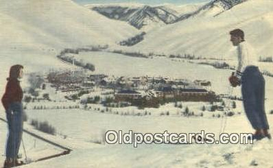 trn001481 - Winter At Sun Valley, Idaho, ID USA Trains, Railroads Postcard Post Card Old Vintage Antique