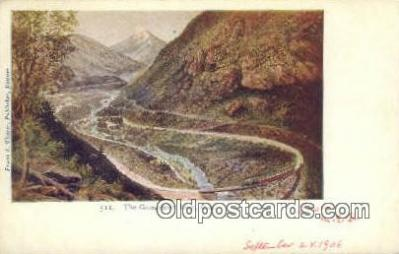 trn001488 - The Georgetown Loop, Colorado, CO USA Trains, Railroads Postcard Post Card Old Vintage Antique
