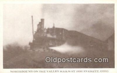 trn001504 - Northbound Valley Railway, Everett, Ohio, OH USA Trains, Railroads Postcard Post Card Old Vintage Antique