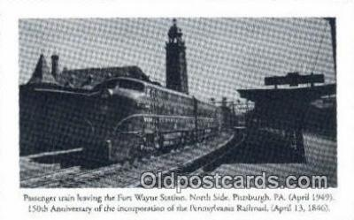 trn001543 - Repro Image, Passenger Train Fort Wayne Station, Pittsburg, Pennsylvania, PA USA Trains, Railroads Postcard Post Card Old Vintage Antique