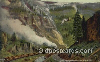 trn001548 - Eagle River Canyon, Colorado, CO USA Trains, Railroads Postcard Post Card Old Vintage Antique