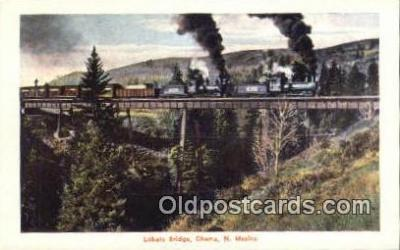 trn001550 - Lobato Bridge, Chama, New Mexico, NM USA Trains, Railroads Postcard Post Card Old Vintage Antique