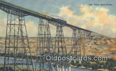 trn001553 - Pecos High Bridge, Pecos River Gorge, South West, Texas, TX USA  Trains, Railroads Postcard Post Card Old Vintage Antique