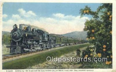 trn001556 - Santa Fe Train, Southern California, CA USA Trains, Railroads Postcard Post Card Old Vintage Antique