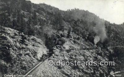 trn001561 - Real Photo - Cripple Creek, Colorado, CO USA Trains, Railroads Postcard Post Card Old Vintage Antique