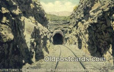 trn001572 - Raton Tunnels, Trinidad, Colorado, CO USA Trains, Railroads Postcard Post Card Old Vintage Antique