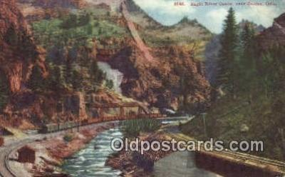 trn001573 - Eagle River Canon, Belden, Colorado, CO USA Trains, Railroads Postcard Post Card Old Vintage Antique
