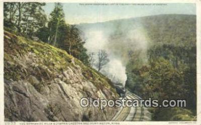 trn001587 - Bershire Hills, Huntington, Massachusetts, MA USA Trains, Railroads Postcard Post Card Old Vintage Antique