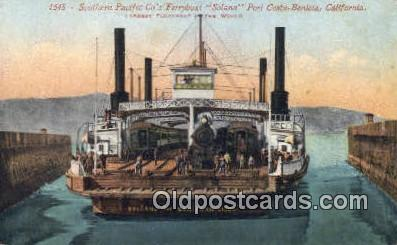 trn001603 - Southern Pacific Company's Ferryboat Solano, Port Costa Benicia, California, CA USA Trains, Railroads Postcard Post Card Old Vintage Antique