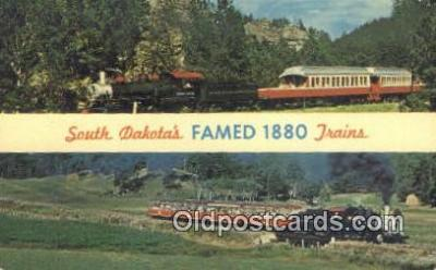 trn001611 - 1880 Train, South Dakota, SD USA Trains, Railroads Postcard Post Card Old Vintage Antique
