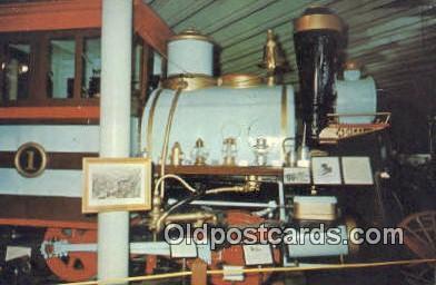 trn001615 - Early Wood Burning porter Locomotive, Lincoln, Nebraska, NB USA Trains, Railroads Postcard Post Card Old Vintage Antique