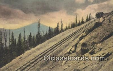 trn001642 - Mt Baldy, Colorado Springs, CO USA Trains, Railroads Postcard Post Card Old Vintage Antique
