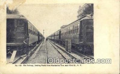 trn001645 - The Subway, New York, NY USA Trains, Railroads Postcard Post Card Old Vintage Antique