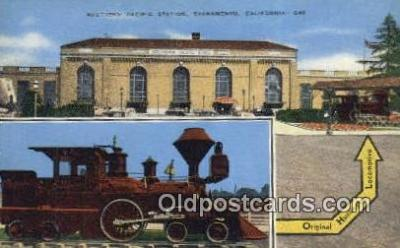trn001652 - Southern Pacific Station, Sacramento, California, CA USA Trains, Railroads Postcard Post Card Old Vintage Antique