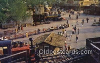 trn001669 - Calico Square, knots Berry Farm, Buena Park, California, CA USA Trains, Railroads Postcard Post Card Old Vintage Antique