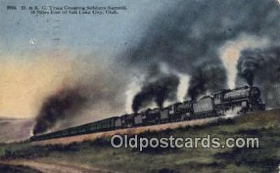 trn001671 - D and RG Train, Soldiers Summit, Utah, UT USA Trains, Railroads Postcard Post Card Old Vintage Antique