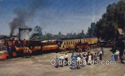 trn001678 - The Ghost Town  and Calico Railroad, Buena Park, California, CA USA Trains, Railroads Postcard Post Card Old Vintage Antique