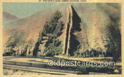 trn001679 - The Devils Slide, Weber Canyon, Utah, UT USA Trains, Railroads Postcard Post Card Old Vintage Antique
