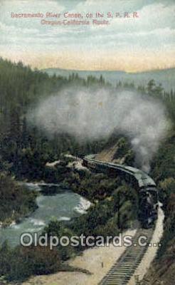 trn001683 - Sacramento Canon, Oregon California, OR CA USA Trains, Railroads Postcard Post Card Old Vintage Antique