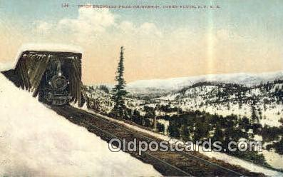 trn001686 - Train, Snow sheds, Ogden Route, Utah, UT USA Trains, Railroads Postcard Post Card Old Vintage Antique