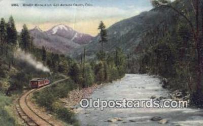 trn001691 - Needle Mountains, Las Animas Canon, Colorado, CO USA Trains, Railroads Postcard Post Card Old Vintage Antique