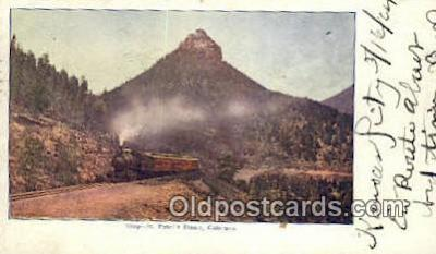 trn001692 - St Peters Dome, Colorado, CO USA Trains, Railroads Postcard Post Card Old Vintage Antique