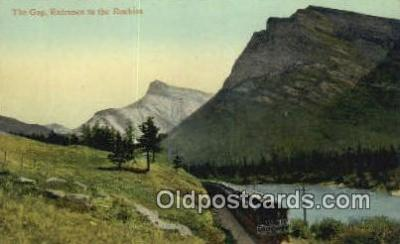 trn001697 - The Gap Entrance To The Rockies, USA Trains, Railroads Postcard Post Card Old Vintage Antique