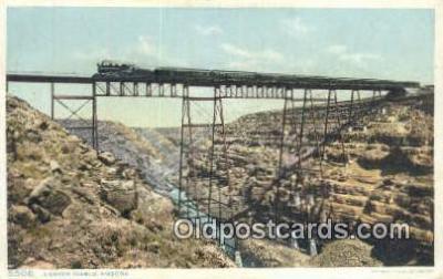 trn001732 - Canyon Diablo, Arizona, AZ USA Trains, Railroads Postcard Post Card Old Vintage Antique