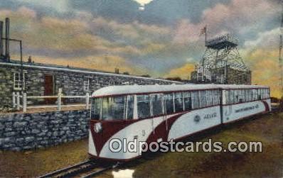 trn001769 - Streamline Cog Train, old summit House, Pikes Peak, Colorado, CO USA Trains, Railroads Postcard Post Card Old Vintage Antique