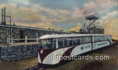 trn001773 - Streamline Cog Train, old summit House, Pikes Peak, Colorado, CO USA Trains, Railroads Postcard Post Card Old Vintage Antique