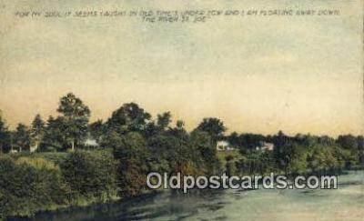 trn001800 - St Joe River, USA Trains, Railroads Postcard Post Card Old Vintage Antique