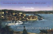 TR00022 - Bosphore Therapia et le Stationnaire Attemand Gorefey Constantinople, Turkey Postcard Post Card, Kart Postal, Carte Postale, Postkarte, Country Old Vintage Antique