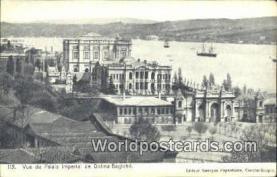 TR00028 - Vue du Palais imperial de Dolma-Bagtche Constantinople, Turkey Postcard Post Card, Kart Postal, Carte Postale, Postkarte, Country Old Vintage Antique