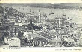 TR00029 - Vue de Bosphore Constantinople, Turkey Postcard Post Card, Kart Postal, Carte Postale, Postkarte, Country Old Vintage Antique