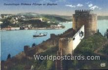 TR00034 - Chateaux d'Europe au Bosphore Constantinople, Turkey Postcard Post Card, Kart Postal, Carte Postale, Postkarte, Country Old Vintage Antique