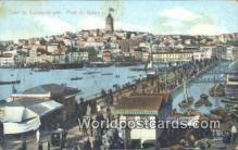 TR00069 - Pont de Galata Constantinople, Turkey Postcard Post Card, Kart Postal, Carte Postale, Postkarte, Country Old Vintage Antique