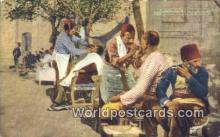 TR00085 - Turkish Barber Shop Constantinople, Turkey Postcard Post Card, Kart Postal, Carte Postale, Postkarte, Country Old Vintage Antique