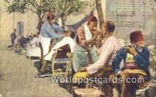 TR00086 - Turkish Barber Shop Constantinople, Turkey Postcard Post Card, Kart Postal, Carte Postale, Postkarte, Country Old Vintage Antique