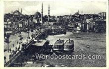 TR00131 - Galata Koprusu Istanbul, Turkey Postcard Post Card, Kart Postal, Carte Postale, Postkarte Country Old Vintage Antique
