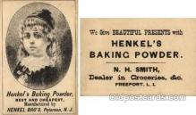 tc000235 - Henkel's Baking Powder  --  approx size inches =  3 x 4.5