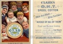 tc000265 - Clarks O.N.T. Spool Cotton-  approx size inches =  3 x 4.5