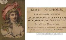 tc000288 - MME. Nicholas, Dressmaker, New York  --  approx size inches =  2.75 x 4.5
