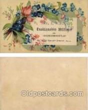 tc000291 - Mrs. Weber, Dressmaker, Phila, Penn, USA  --  approx size inches = 2.5 x 4.25