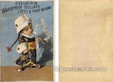 tc000296 - Celluloid Waterproof Collars  --  approx size inches = 2.75 x 4.5  Children Smoking