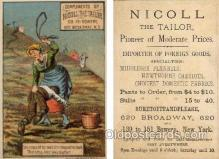 tc000297 - Nicoll the Tailor, Broadway, New York City USA  --  approx size inches =  3 x 4.5
