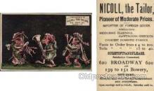 tc000302 - Nicoll the Tailor, Broadway, NYC USA  --  approx size inches =  2.5 x 4