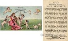 tc000337 - Hall's Vegetable Sicilian Hair Renewer, R.P. Hall & Co., Nashua, NH, New Hampshire, USA - approx size inches =  3 x 5