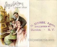 tc000414 - Story & Clark Organ Co. Chicago - London, --  H. Morse, Agent Dundee, NY USA  -- approx size inches = 3.25 x 5.25