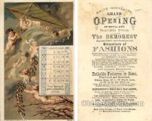 tc000415 - The Demorest Emporium of Fashions 1878 calendar --  approx size inches = 3.5 x 5.75